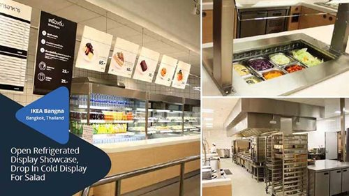 Open Refrigerated Display Showcase, Drop In Cold Display For Saled