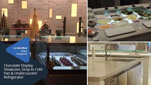 Chocolate Display Showcase, Drop In Cold Pan & Undercounter Refrigerator